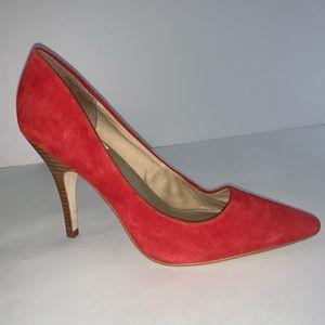 Steve Madden Red Carmila Suede Pump Heels Sz 8